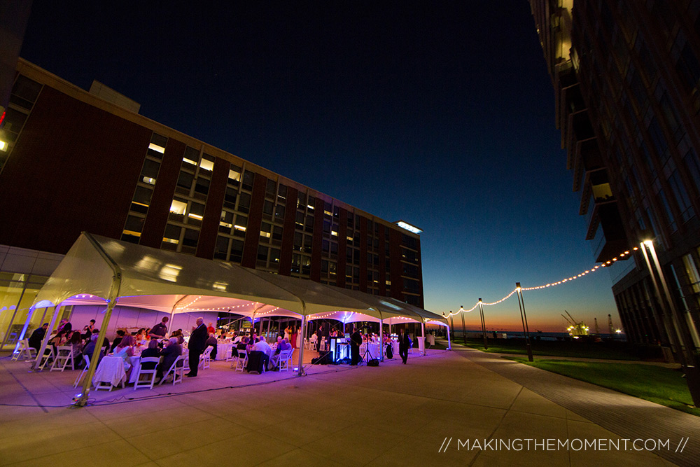 Aloft Cleveland Wedding Tent