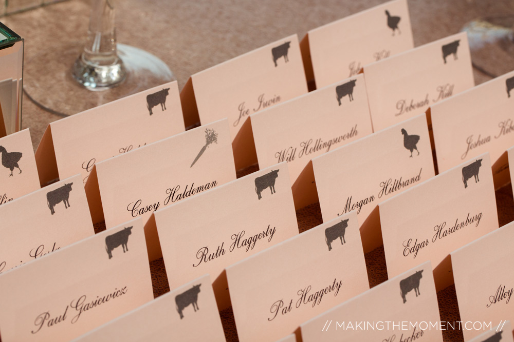 reception seating cards