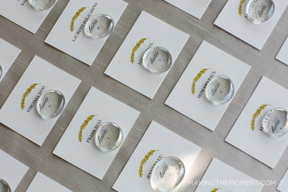 weighted reception assignment cards outdoor wedding cleveland