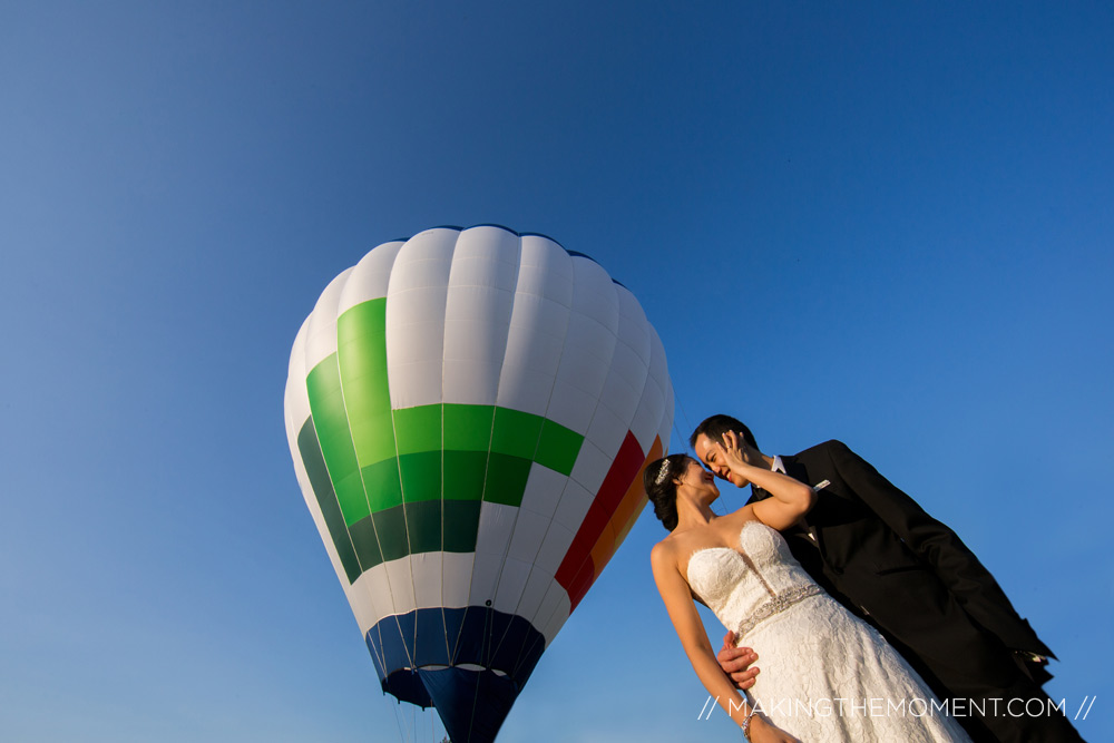 hot-air balloon wedding cleveland