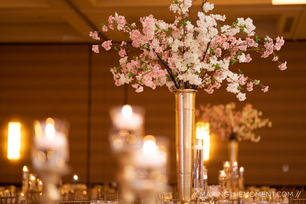Louisville hyatt Wedding Reception flowers