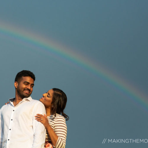 Rainbow engagement session