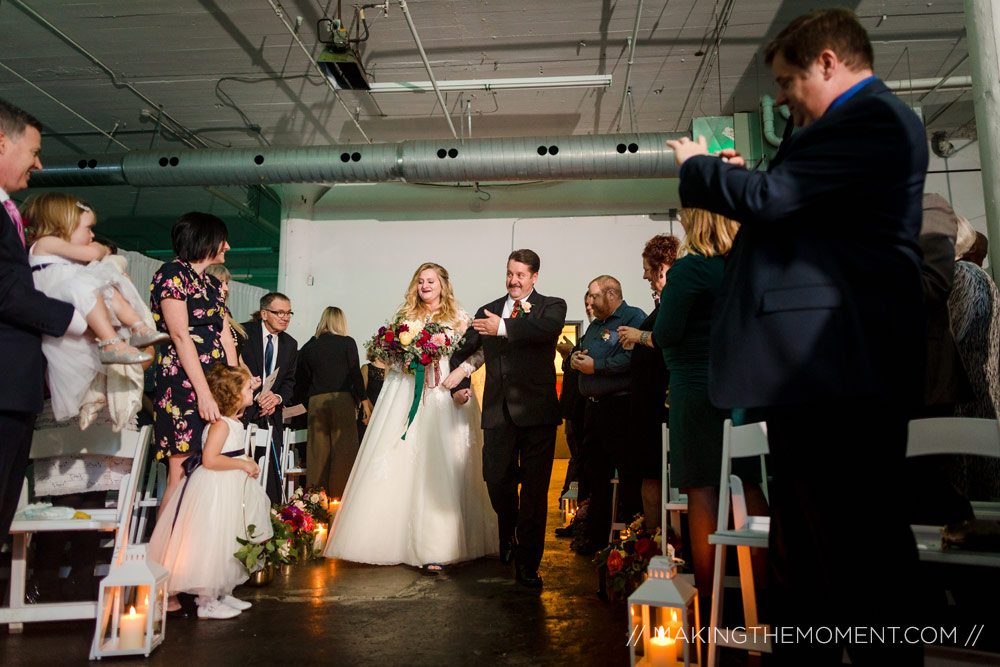 Red Space Wedding Ceremony