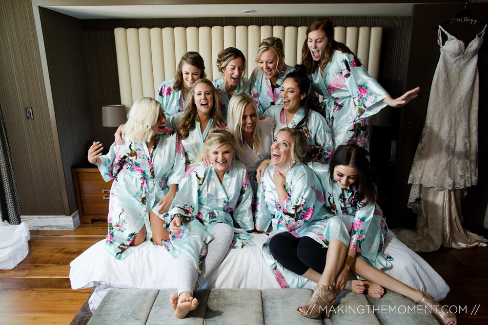 Fun Bridesmaids Cleveland Wedding Photography